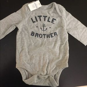Baby Gap Gray One Piece Little Brother 0-3 Months